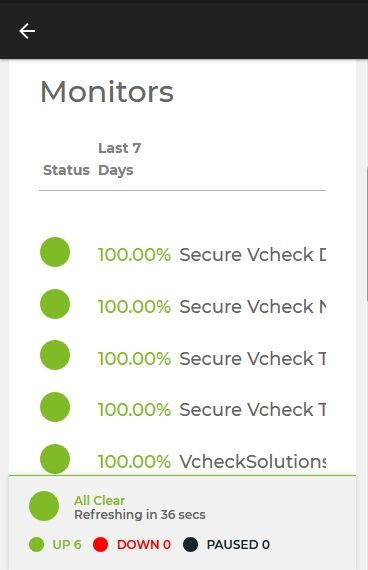 Vcheck Support :: Android App